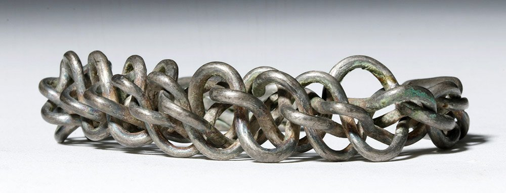 Authentic Viking Braided / Twisted Silver Bracelet - 4