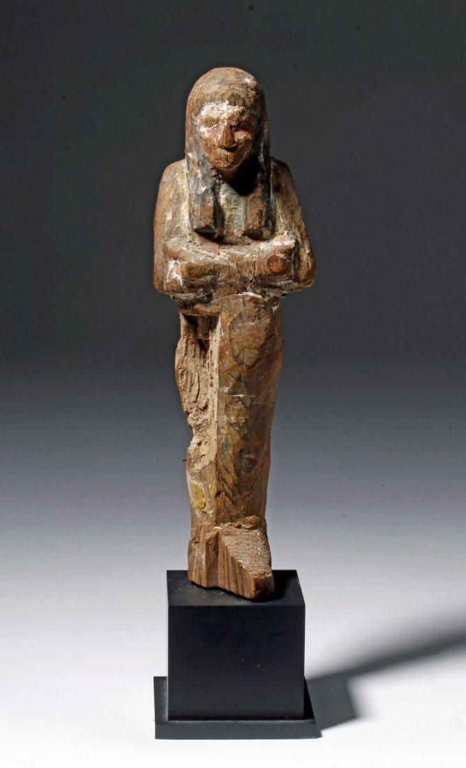 Egyptian Wooden Shabti - 19th Dyn, Ex-Sotheby