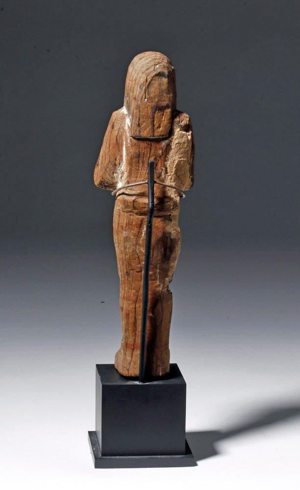 Egyptian Wooden Shabti - 19th Dyn, Ex-Sotheby - 3