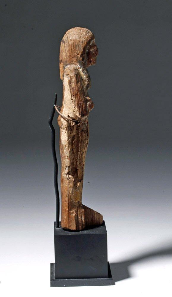 Egyptian Wooden Shabti - 19th Dyn, Ex-Sotheby - 4