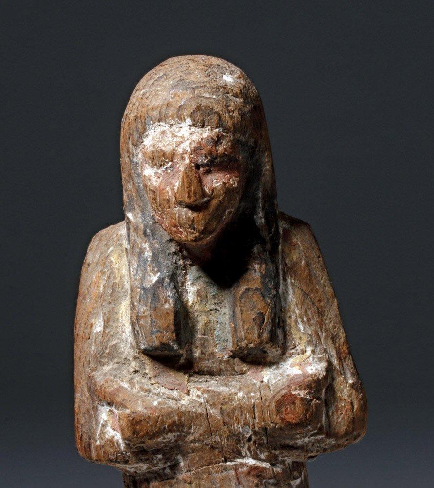 Egyptian Wooden Shabti - 19th Dyn, Ex-Sotheby - 5
