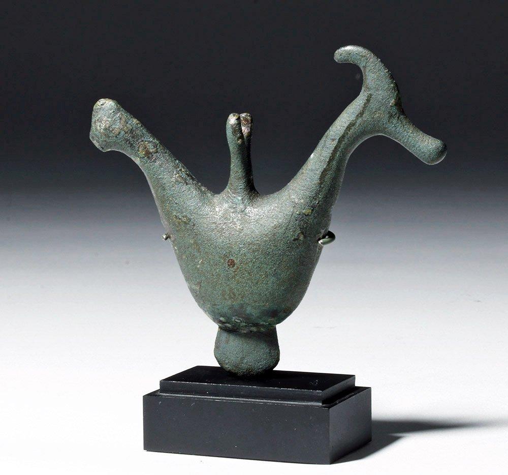Large Greek Geometric Period Bronze Bird Pendant