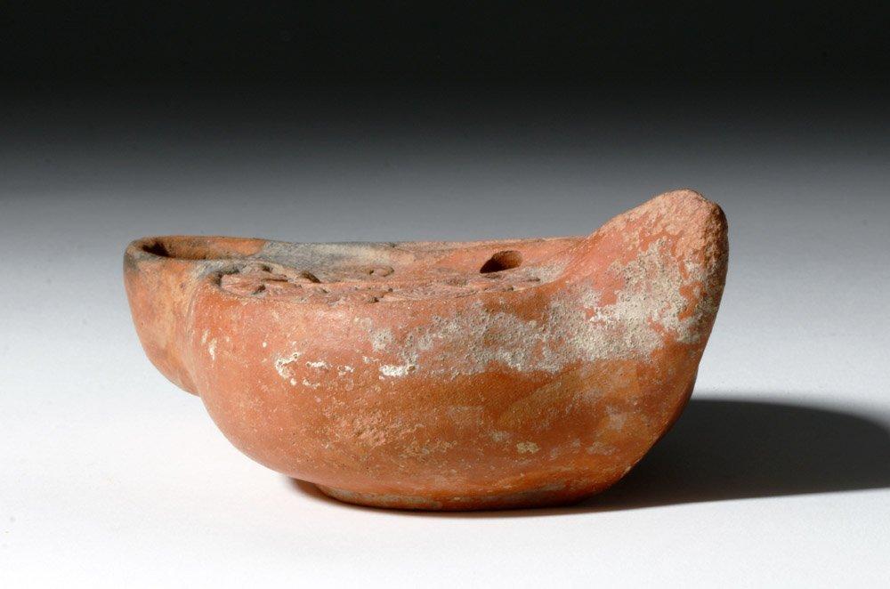Roman Redware Oil Lamp - Decorative Urn - 3