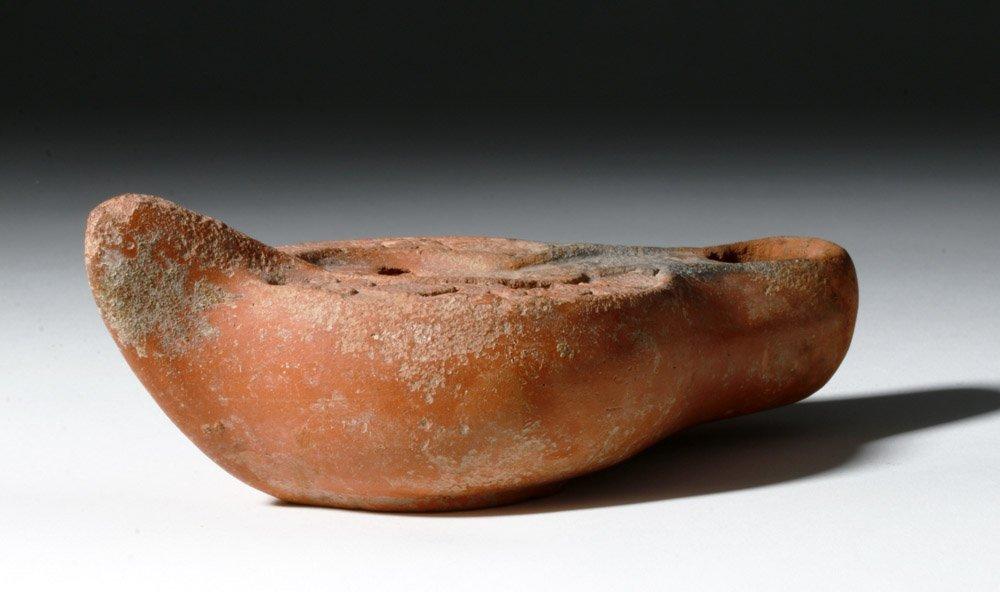 Roman Redware Oil Lamp - Decorative Urn - 4