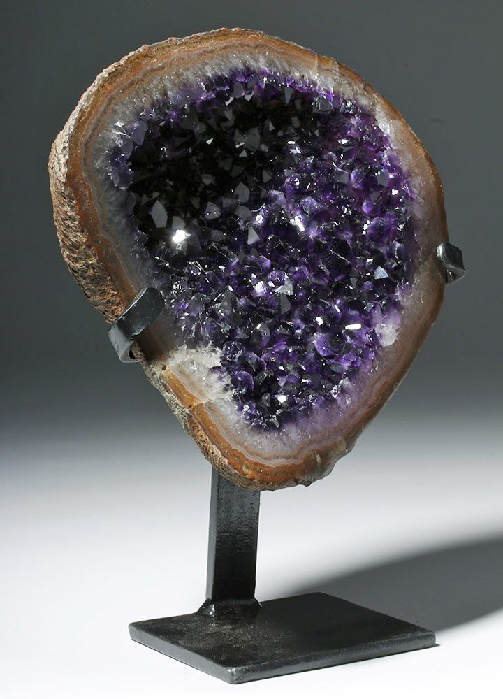 Lovely Amethyst Geode Section - Finest Purple Crystals - 4