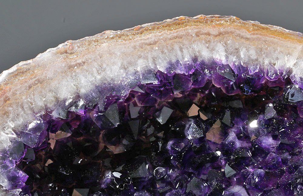 Lovely Amethyst Geode Section - Finest Purple Crystals - 6