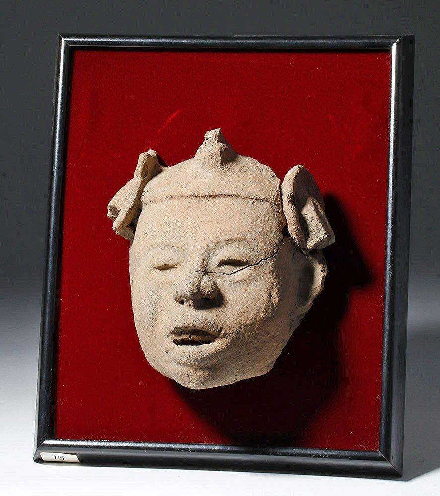 Veracruz Pottery Head on Frame