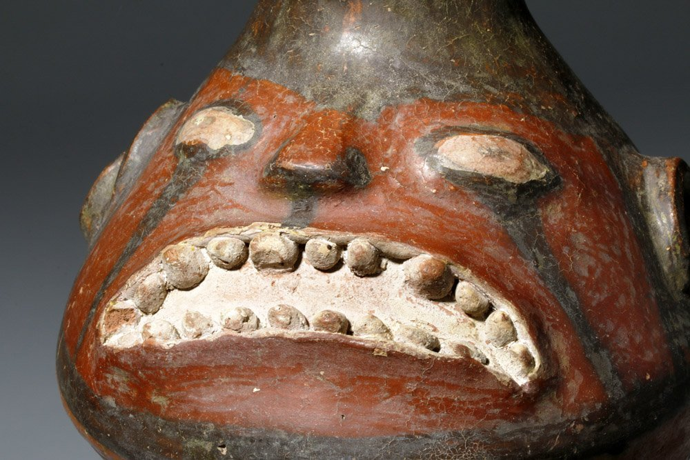 Important Ica / Chancay Polychrome Figural Vessel - 2