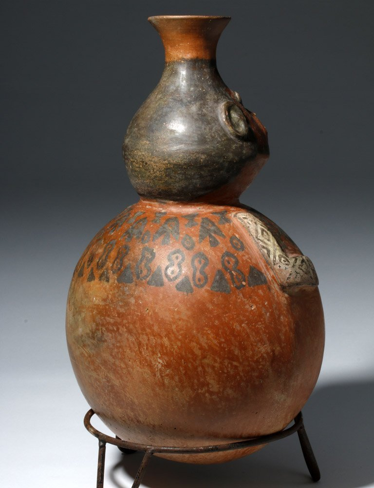 Important Ica / Chancay Polychrome Figural Vessel - 4