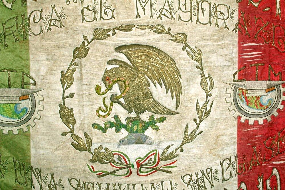 Post-Revolution Mexican Mayorazgo Flag - Labor Rights - 2