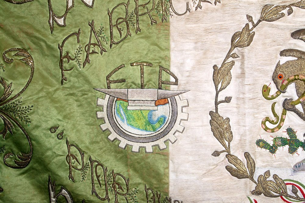 Post-Revolution Mexican Mayorazgo Flag - Labor Rights - 3