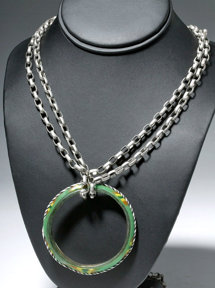 Romano-Egyptian Multicolored Glass Bracelet Necklace