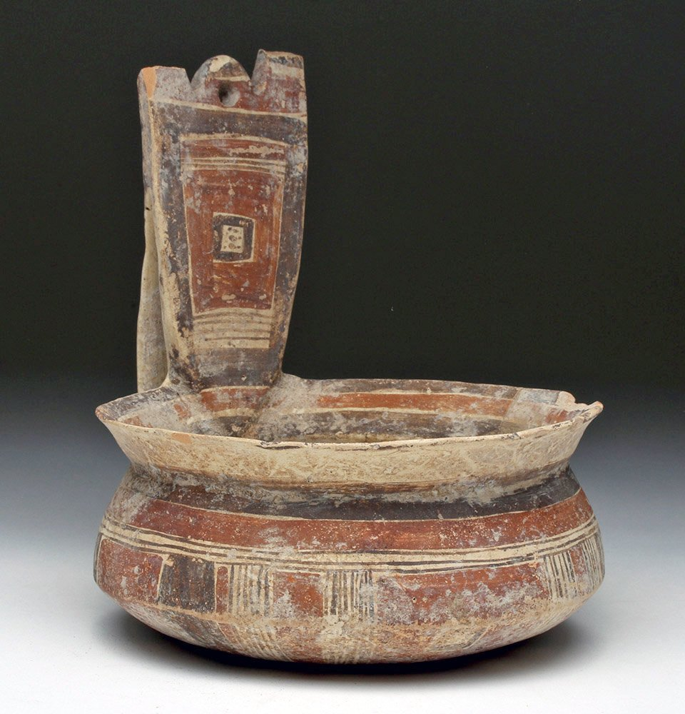 Daunian Polychrome Pottery Kyathos
