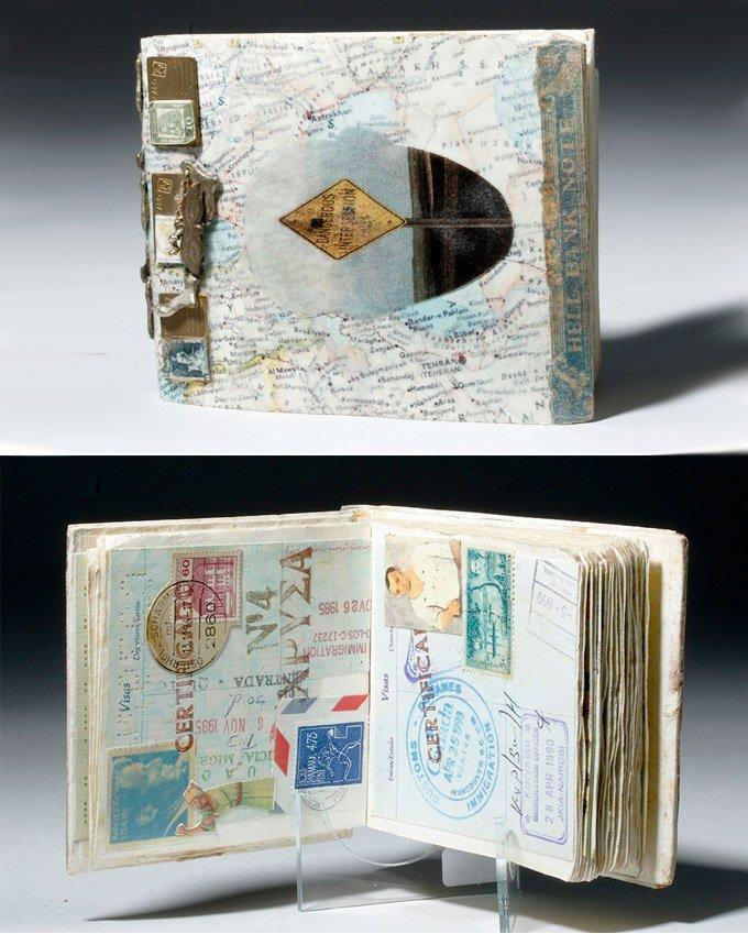 Souvenir Book - Passport Pages, Stamps, Milagros