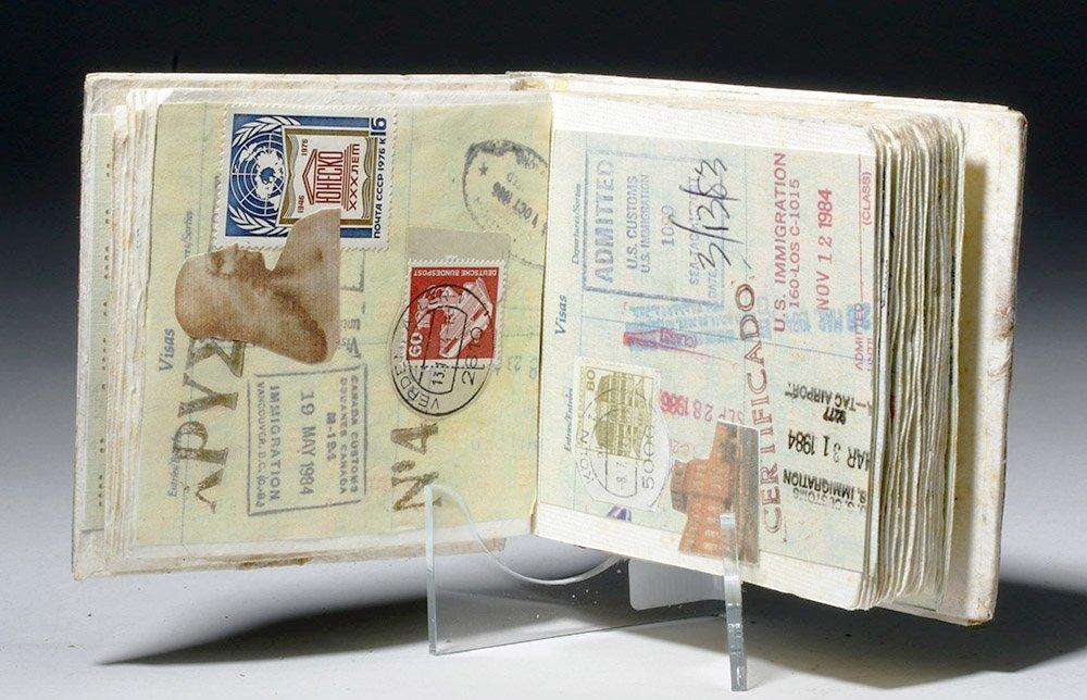 Souvenir Book - Passport Pages, Stamps, Milagros - 3