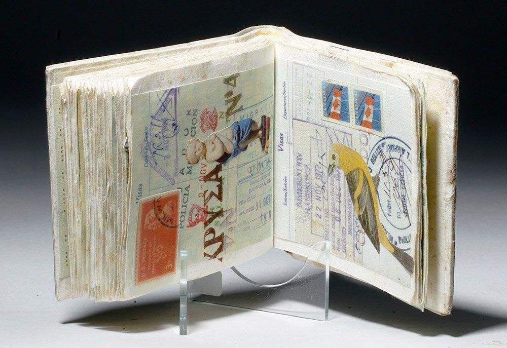 Souvenir Book - Passport Pages, Stamps, Milagros - 4