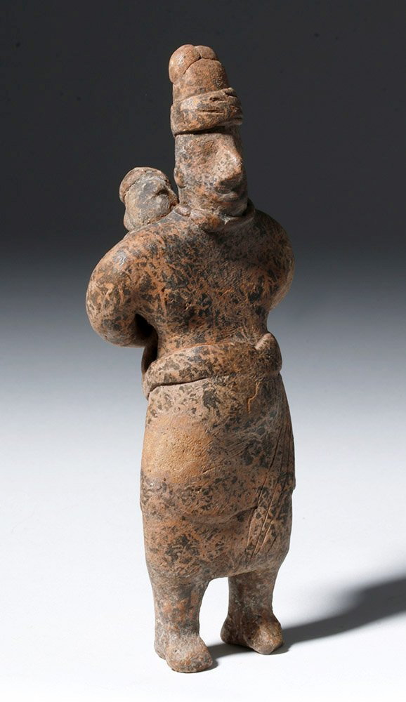 Adorable Colima Pottery Figure - Mother & Child - 4