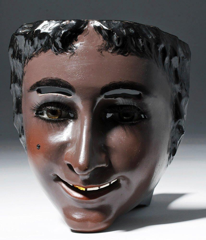 Rare Mexican Catrine Dandy Mask - Mechanical Eyes
