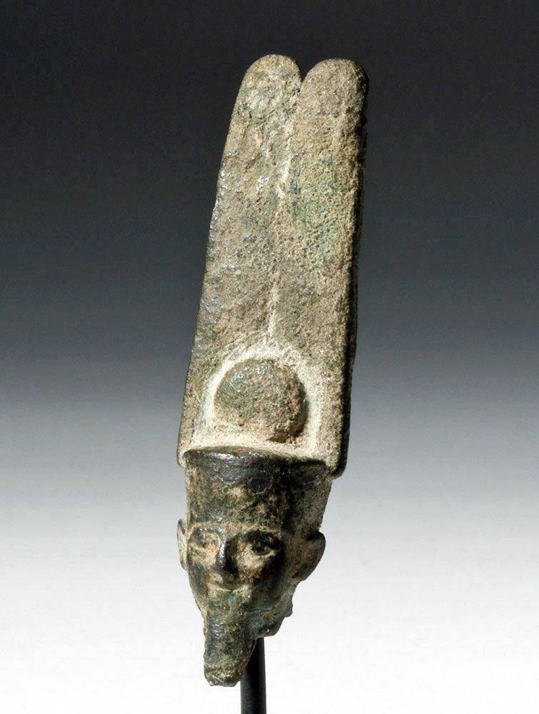 Egyptian Bronze Head of a Pharaoh