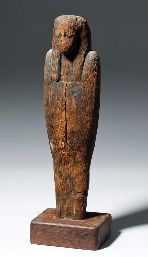 Egyptian Wood Ptah Sokar Osiris Figure, ex-Arnovick