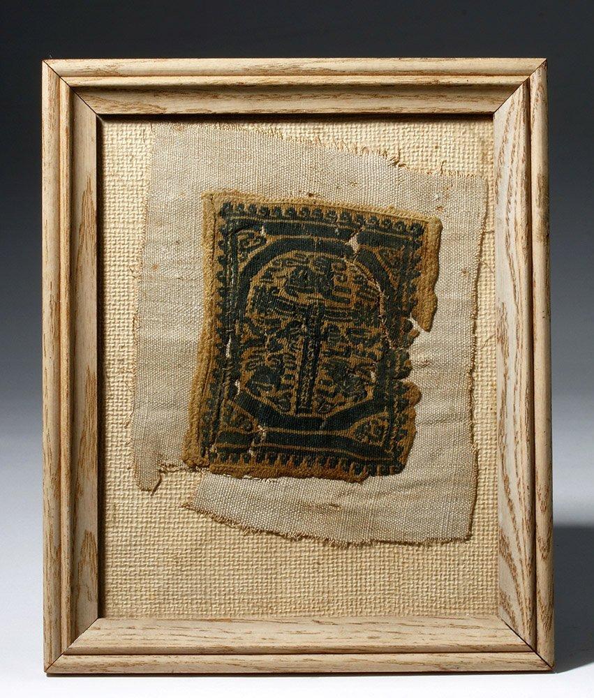 Egyptian Coptic Textile Panel - Ex Museum