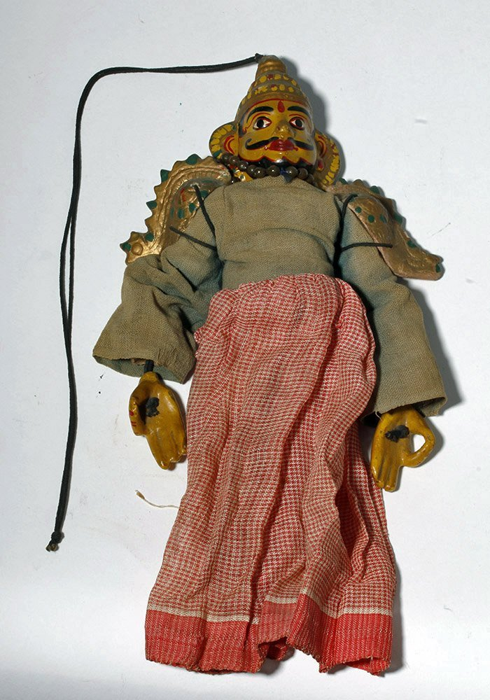 Lot of 2 Indian Articulated Puppet Figures - 3