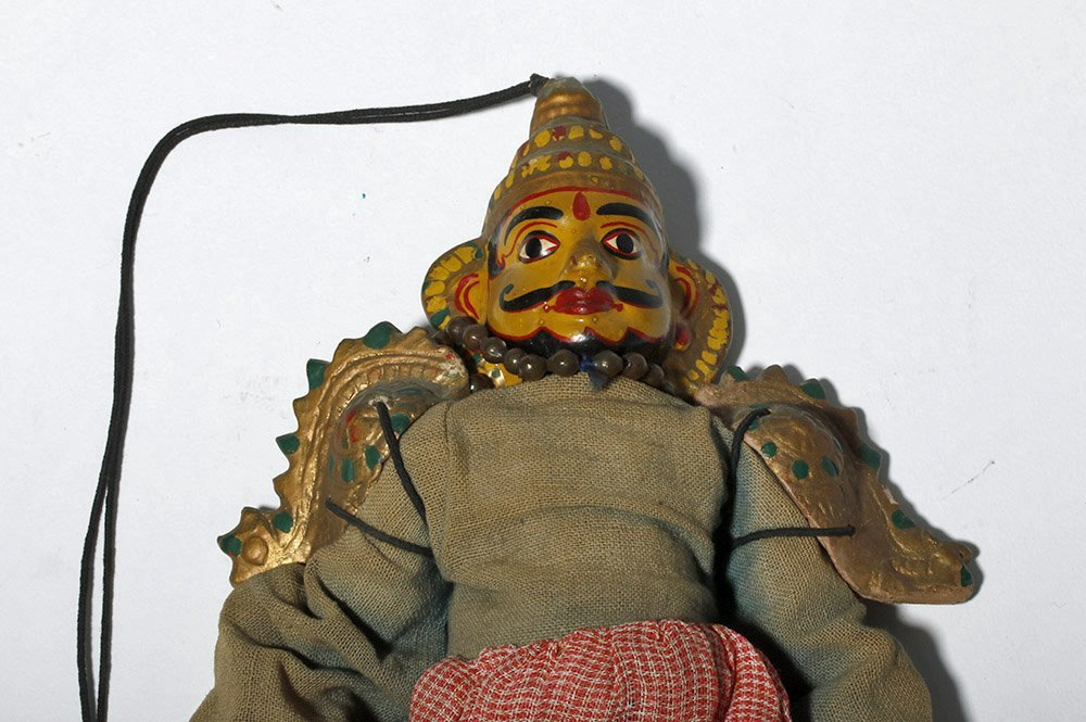 Lot of 2 Indian Articulated Puppet Figures - 4
