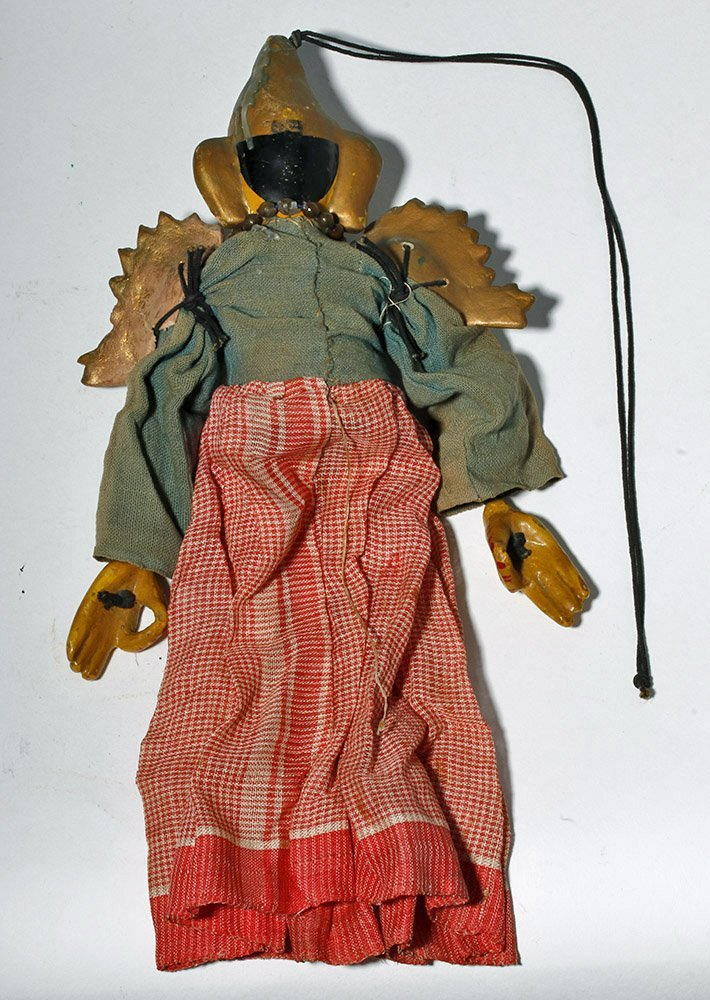 Lot of 2 Indian Articulated Puppet Figures - 5