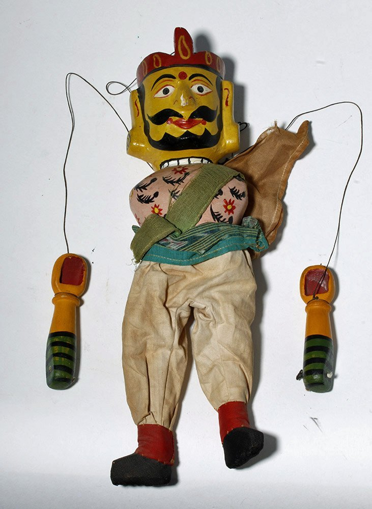 Lot of 2 Indian Articulated Puppet Figures - 6