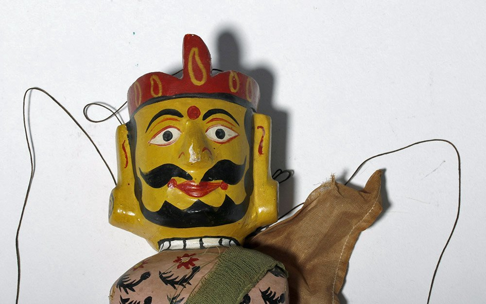 Lot of 2 Indian Articulated Puppet Figures - 7