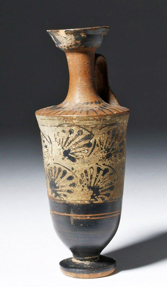 Greek Attic Pottery White-Ground Lekythos