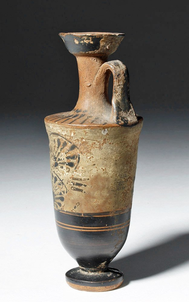 Greek Attic Pottery White-Ground Lekythos - 2