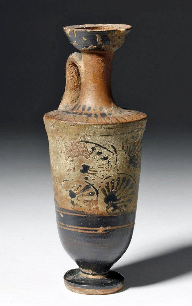 Greek Attic Pottery White-Ground Lekythos - 4