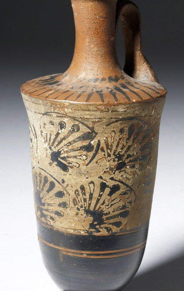 Greek Attic Pottery White-Ground Lekythos - 5