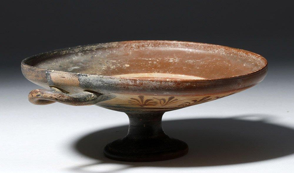 Rare Greek Boeotian Pottery Kylix - 4