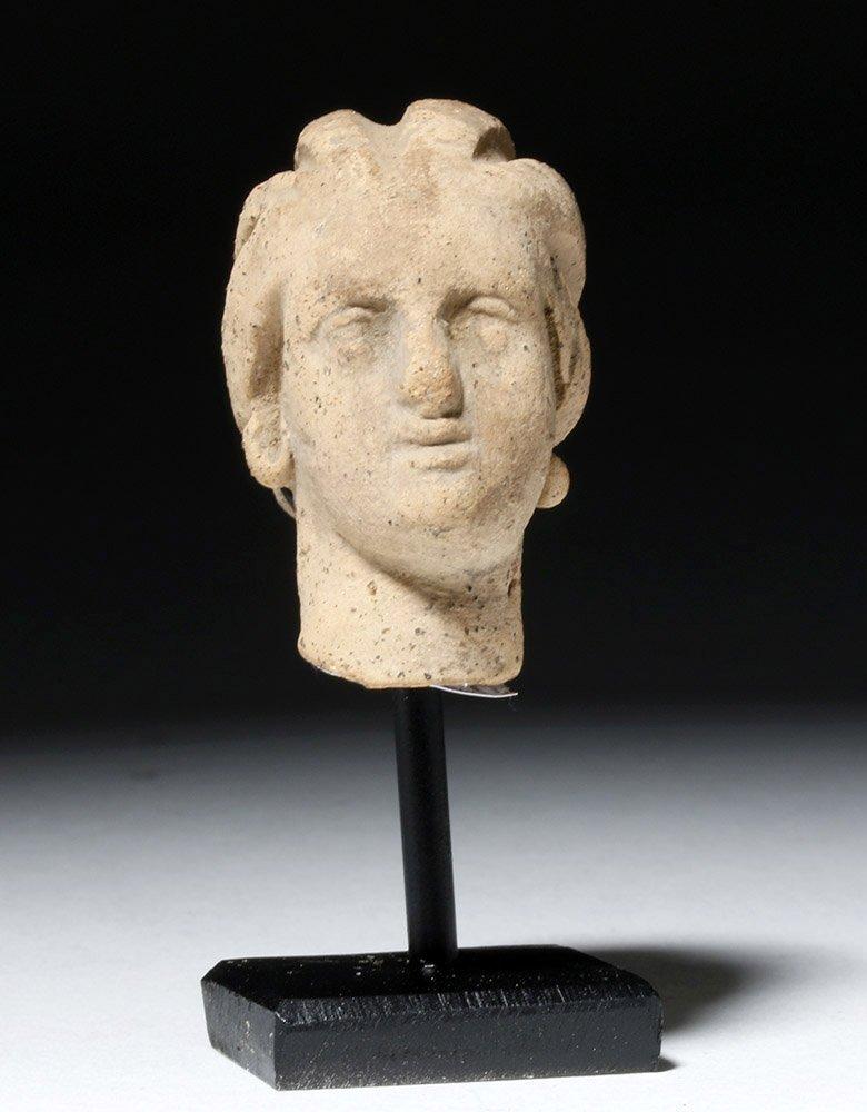 Beautiful Hellenistic Greek Pottery Head of Goddess - 2