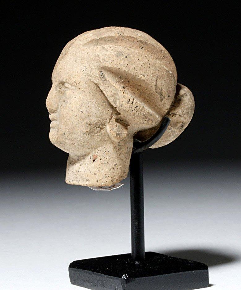Beautiful Hellenistic Greek Pottery Head of Goddess - 3