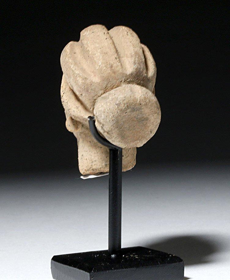 Beautiful Hellenistic Greek Pottery Head of Goddess - 4