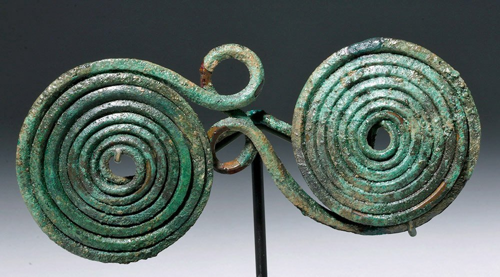 European Hallstatt Bronze Spectacle Fibula (Brooch) - 6