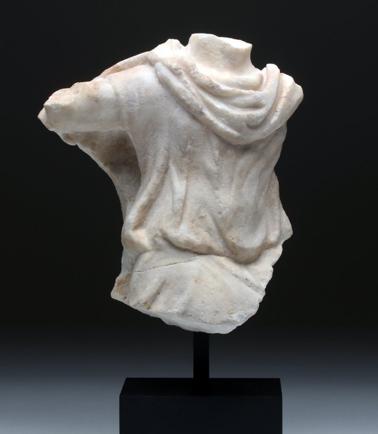 Finely-Carved Roman Marble Torso Frieze