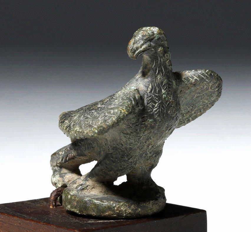 Roman Bronze Lamp Lid in Eagle Form