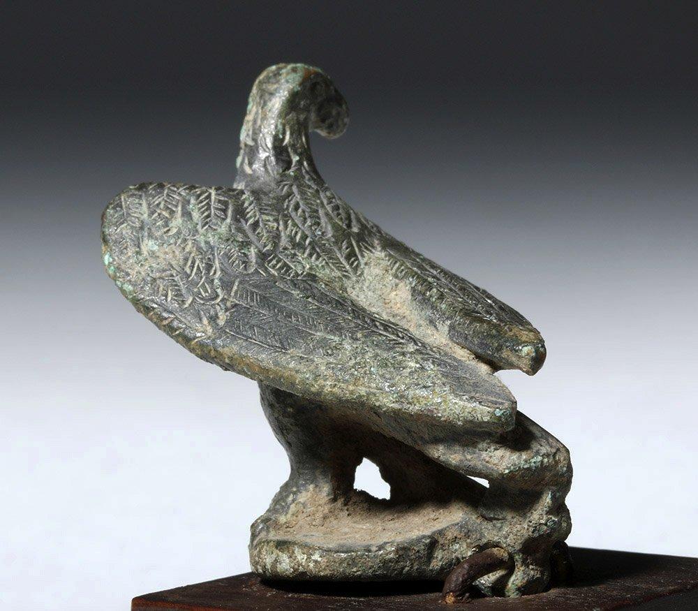 Roman Bronze Lamp Lid in Eagle Form - 3
