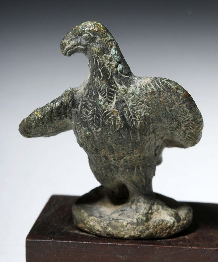 Roman Bronze Lamp Lid in Eagle Form - 5