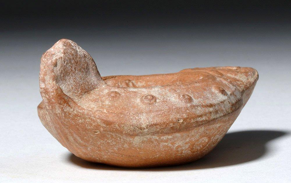 Roman Pottery Oil Lamp - Leda & the Swan - 3
