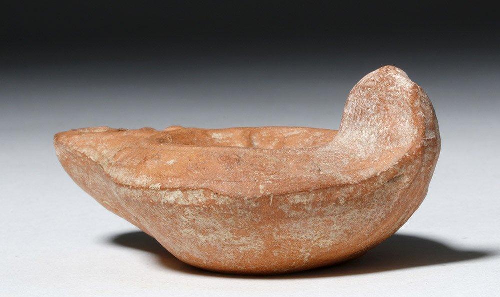 Roman Pottery Oil Lamp - Leda & the Swan - 4