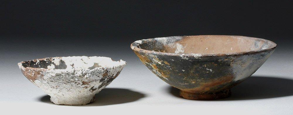 Lot of 2 Roman Sea-Salvaged Terracotta Plates - 2