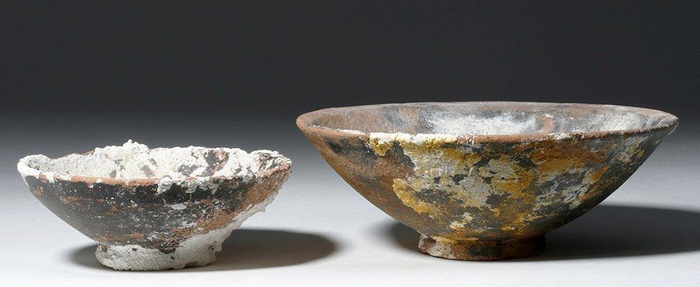 Lot of 2 Roman Sea-Salvaged Terracotta Plates - 3