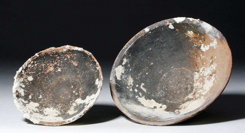 Lot of 2 Roman Sea-Salvaged Terracotta Plates - 4
