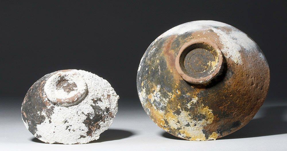 Lot of 2 Roman Sea-Salvaged Terracotta Plates - 5