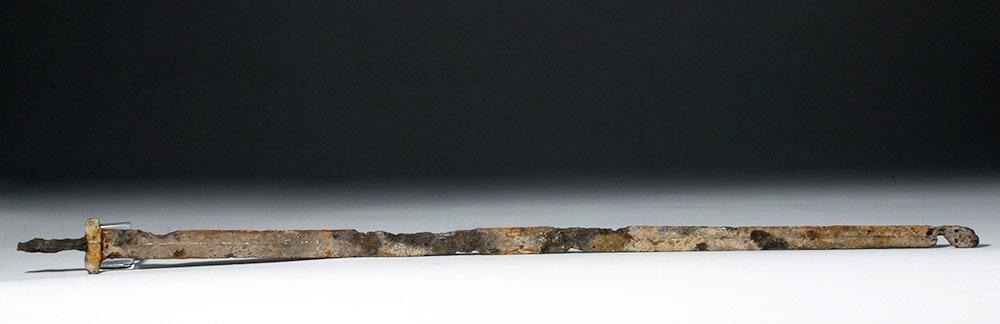 Chinese Long Iron Sword (Jian) with Bronze Guard